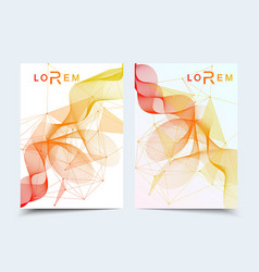 minimal brochure templates magazine leaflet vector image