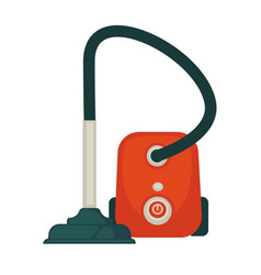 Modern powerful hoover in orange corpus isolated vector