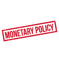 Monetary policy rubber stamp vector