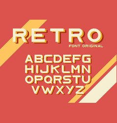 Original vintage retro font vector