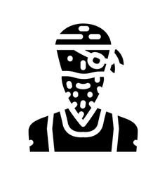 Pirate person glyph icon vector
