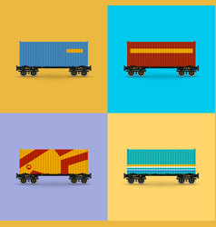 platform with container isolated vector image