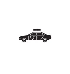 police vehicle black concept icon police vector image