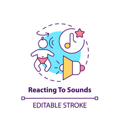 Reacting to sounds concept icon vector
