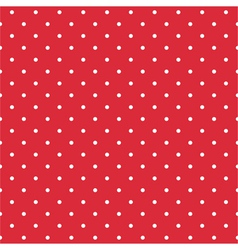 Red background seamless pattern with polka dots vector