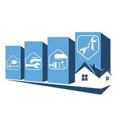 Repair the house symbol vector