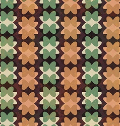 Retro geometric flowers seamless pattern vector