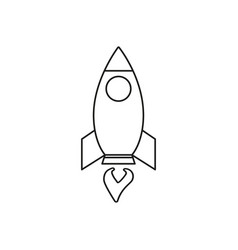 rocket of icon fire vector image