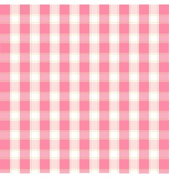 seamless pink plaid pattern vector image