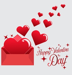 Send Love Heart in Valentine Day vector image vector image