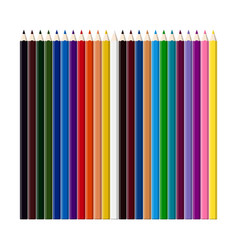 set color pencils for drawing vector image