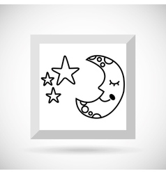 sky drawn icon design vector image