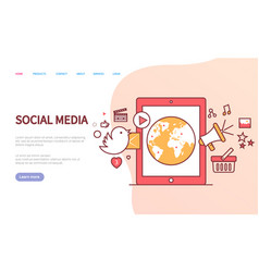social media website online communication vector image