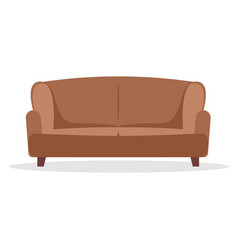 sofa flat icon furniture interior couch vector image