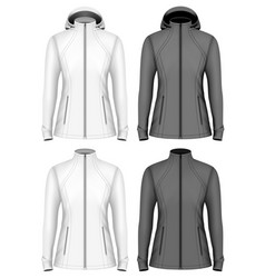 softshell jacket for lady vector image