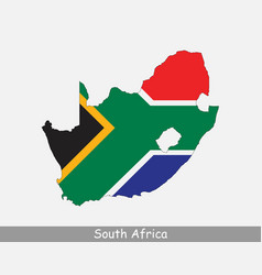 South africa map flag vector