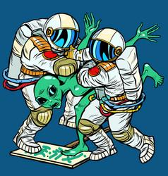 Storm area 51 astronauts arrested an alien vector