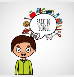 Students back to school vector