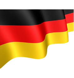 the national flag of germany waving in the wind vector image