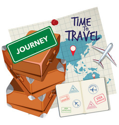 Time to travel logo vector