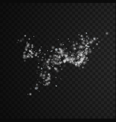 Wind stream of snowflakes spraying particles vector