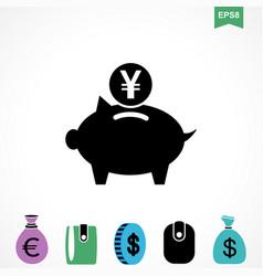 yen icon vector image vector image