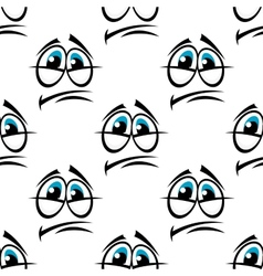 Depression cartooned face seamless background vector image vector image