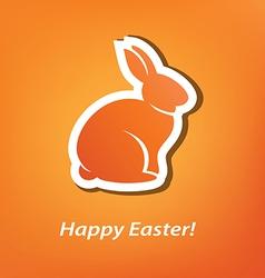 Easter rabbit background vector