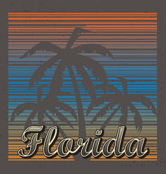 florida abstract background vector image