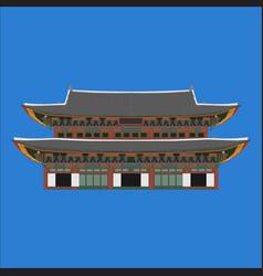 gyeongbokgung south korea country design flat vector image