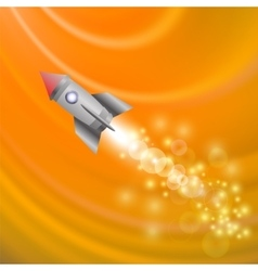 Space rocket launching spacecraft vector