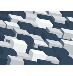 Abstract backdrop with random cubes vector