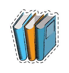 cartoon book library read learn vector image vector image