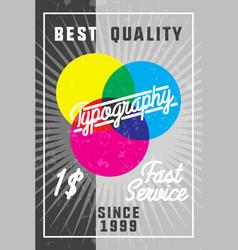 Color vintage typography banner vector