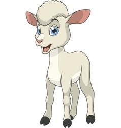 Little funny lamb vector