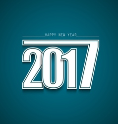 New Year abstract wishes with blue background vector image vector image