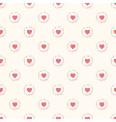 Seamless geometric cute pattern with hearts vector image vector image