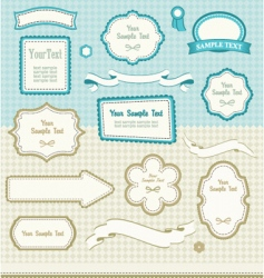 set of retro design elements vector image vector image