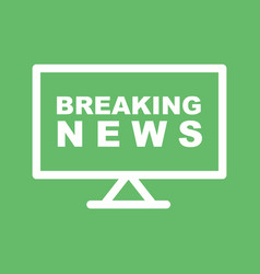 Breaking news on tv vector