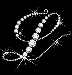 L italic with diamonds vector image vector image