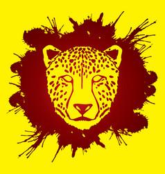 cheetah face tiger head panthera front view face vector image vector image