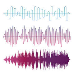 colorful sound waves isolated on white vector image vector image