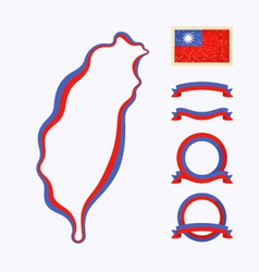 Colors of Taiwan vector image vector image