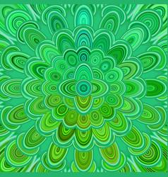 green abstract digital flower mandala art vector image vector image