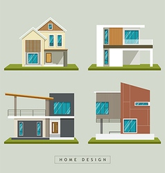 Home exterior design collections vector