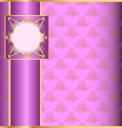 Vintage floral pattern background vector image
