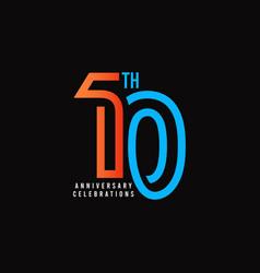 10 th anniversary celebration template design vector