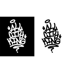 All city king graffiti tag in black over white vector
