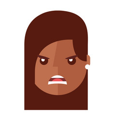 angry young woman avatar character vector image