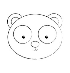 Animal panda cartoon vector